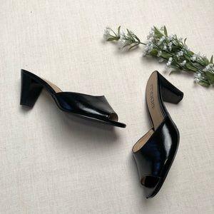 Moda Spana Shoes - Mods Spana Black Heel Mule Open Toe